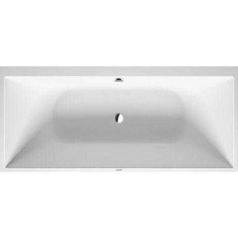 Duravit DuraSquare esquina izquierda de la bañera, 180x80cm, cubierta sin costuras, dos respaldos inclinados, 700427 - 700427000000000