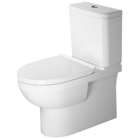 Duravit DuraStyle Basic combinación de WC independiente Duravit Rimless®, válvula de lavado, para cisterna de superficie, color: Blanco con Wondergliss - 21820900001