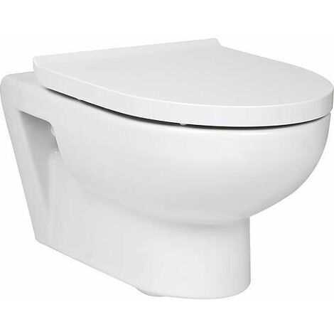 Duravit Durastyle Basic WC à suspension murale 36,5 cm, lave-vaisselle, sans rebord, 4,5 L, Coloris: Blanc avec Wondergliss - 25620900001