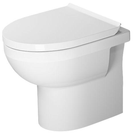 Duravit DuraStyle Basic WC independiente Duravit Rimless®, salida horizontal, para suministro de agua variable, color: Blanco con Wondergliss - 21840900001