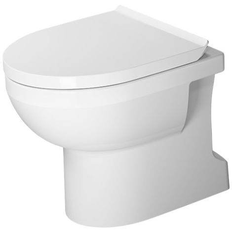 Duravit DuraStyle Basic WC independiente Duravit Rimless®, salida vertical, para suministro de agua variable, color: Blanco con Wondergliss - 21840100001