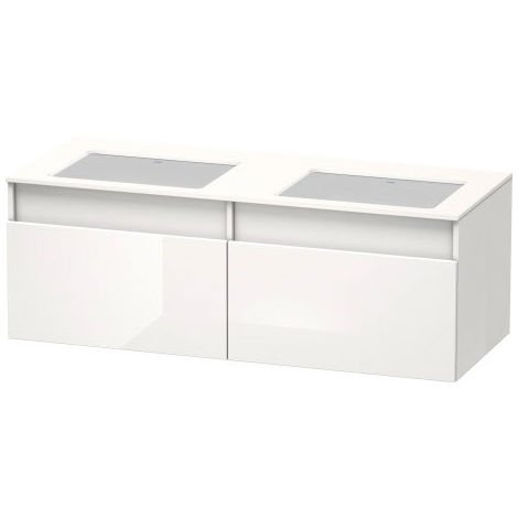 Duravit DuraStyle Vanity unit wall-hung 6886, 2 drawers, basin right and left, for recessed washbasins from below, 1400mm