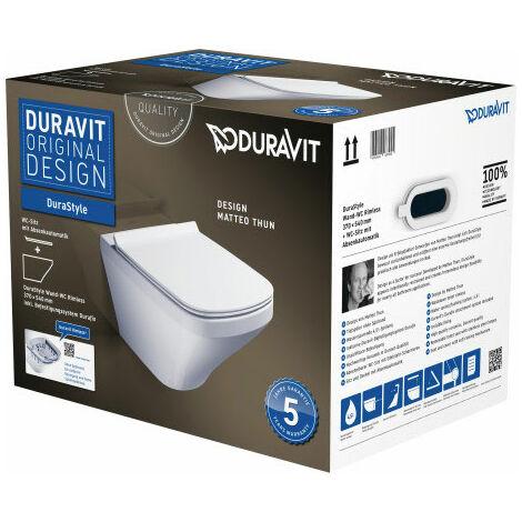 """main image of """"Pack WC suspendu Duravit DuraStyle 455209 - cuvette + abattant frein de chute, système Durafix inclus"""""""
