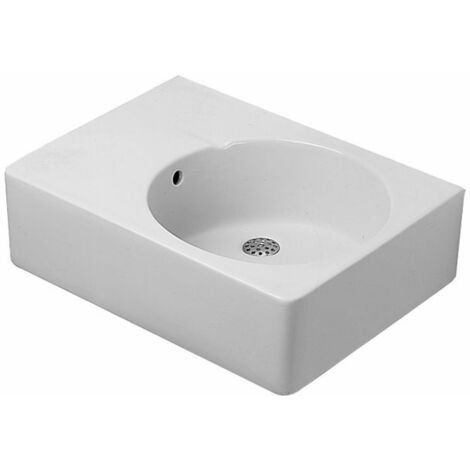 Duravit Evier universel Scola 615mm avec trop-plein, trou de robinet pré-percé à droite, Coloris: Blanc - 0685600000