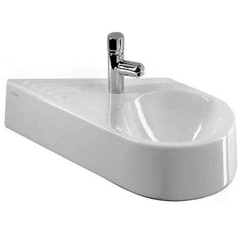 Duravit hand basin Architec 64,5cm without overflow, with tap hole bench, 1 tap hole