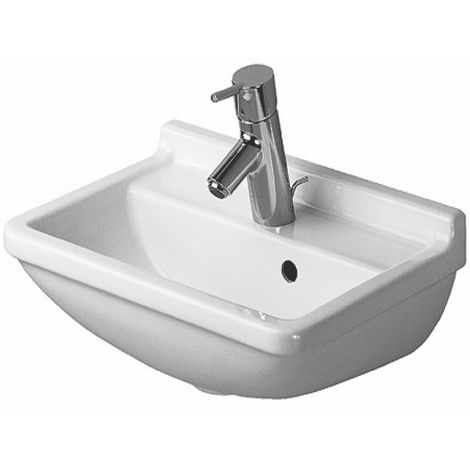 Duravit Hand-rinse basin Starck 3 45cm, with tap hole pre-stitched