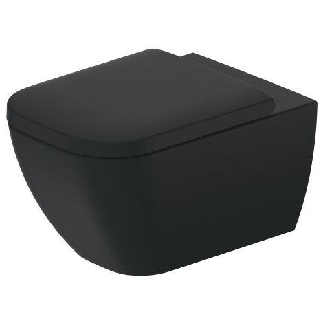 Duravit Happy D.2 54cm WC de pared, sin borde, con fijación oculta (Durafix), color: Color interior antracita mate, color exterior antracita mate - 2222098900
