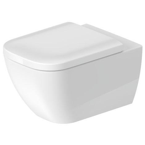 Duravit Happy D.2 54cm WC de pared, sin borde, con fijación oculta (Durafix), color: Color interior blanco, color exterior blanco, con HygieneGlaze - 2222092000