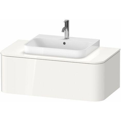 Duravit Happy D.2 Plus Meuble sous-lavabo pour console murale, 1000x550 mm, 1 tiroir, pour lave-mains, Couleur (avant/corps): Gris pierre Vernis satiné mat Soie - HP493109292