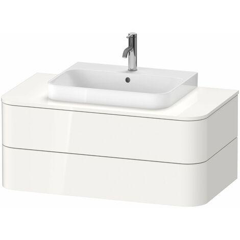 Duravit Happy D.2 Plus Meuble sous-lavabo pour console murale, 1000x550 mm, 2 tiroirs, pour lave-mains, Couleur (avant/corps): Laque mate taupe soie - HP496106060