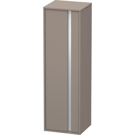 Duravit Ketho Armoire haute 400x1320mm, 1257, 1 porte en bois, charnière à gauche, Couleur (avant/corps): Décor basalte mat - KT1257L4343