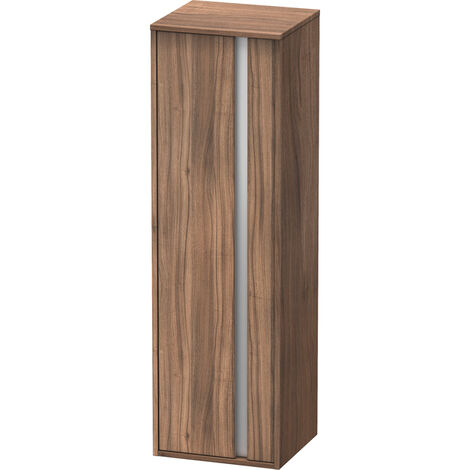 Duravit Ketho Armoire haute 400x1320mm, 1257, 1 porte en bois, charnière à gauche, Couleur (avant/corps): Décor noyer naturel - KT1257L7979