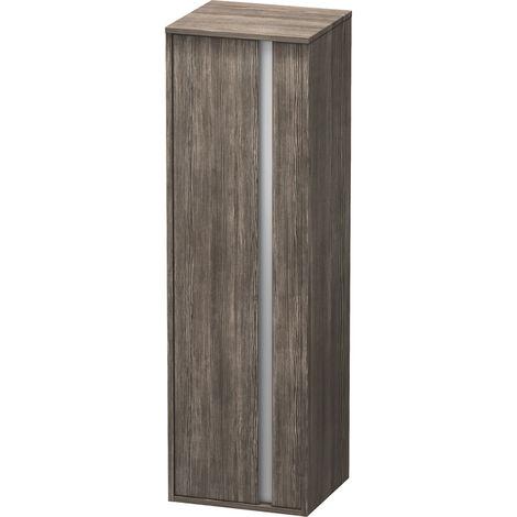 Duravit Ketho Armoire haute 400x1320mm, 1257, 1 porte en bois, charnière à gauche, Couleur (avant/corps): Décor Terra en Pin - KT1257L5151