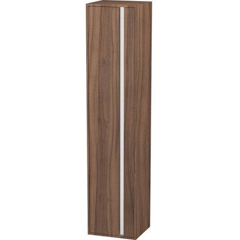 Duravit Ketho Armoire haute 400x1800mm, 1255, 1 porte en bois, charnière à gauche, Couleur (avant/corps): Décor noyer naturel - KT1255L7979