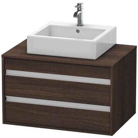 Duravit Ketho Meuble sous-lavabo suspendu 6654, 2 tiroirs, 800mm, pour vasque supérieure, centré, Couleur (avant/corps): Décor blanc mat - KT665401818