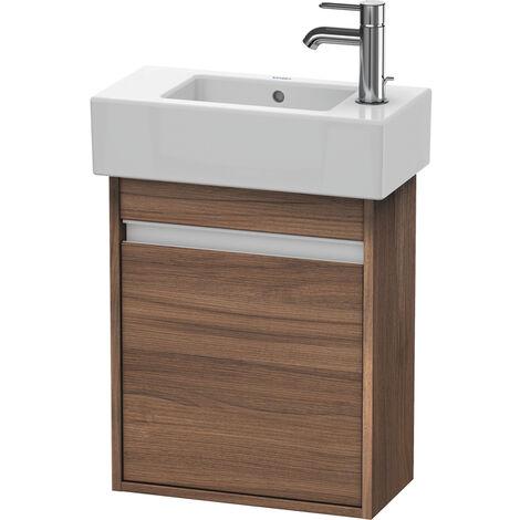 Duravit Ketho Mueble lavabo de pared 6629, 1 puerta de madera, con bisagra a la izquierda, 450mm, para Vero, Color (frente/cuerpo): Nogal natural decorado - KT6629L7979