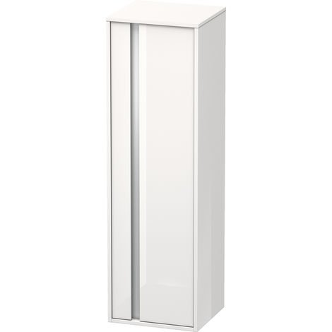 Duravit Ketho Tall cabinet 400x1320mm, 1257, 1 wooden door, right hinge
