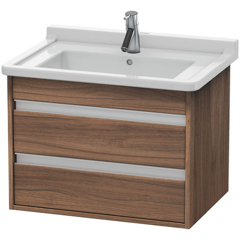 Duravit Ketho vanity unit wall hung 6643, 2 drawers, 650mm, for Starck 3