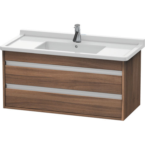 Duravit Ketho vanity unit wall hung 6645, 2 drawers, 1000mm, for Starck 3