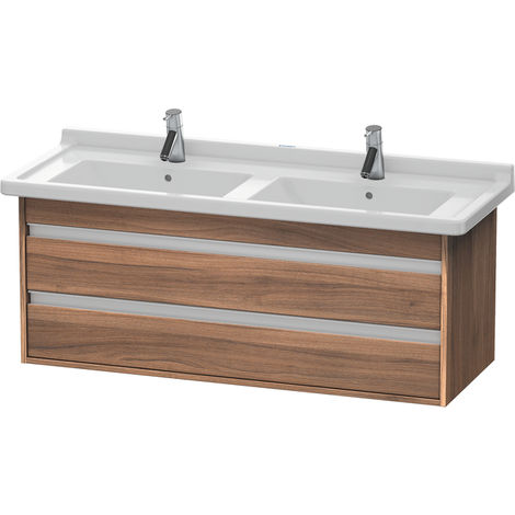 Duravit Ketho vanity unit wall hung 6646, 2 drawers, 1200mm, for Starck 3