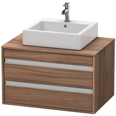 Duravit Ketho vanity unit wall hung 6654, 2 drawers, 800mm, for central top basin