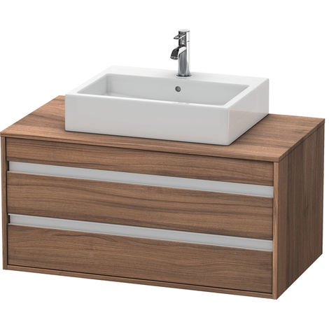 Duravit Ketho vanity unit wall-hung 6655, 2 drawers, 1000mm, for central top basin
