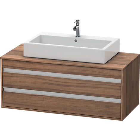 Duravit Ketho vanity unit wall hung 6656, 2 drawers, 1200mm, for central top basin