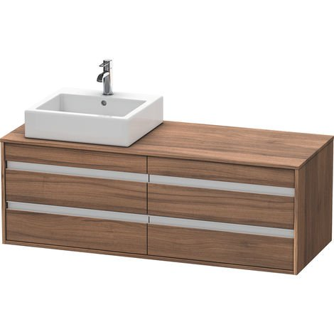 Duravit Ketho vanity unit wall hung 6657, 4 drawers, 1400mm, for 1 top basin, left
