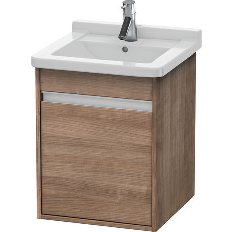Duravit Ketho vanity unit wall hung 6662, 1 wooden door, right hand hinge, 440mm, for Starck 3