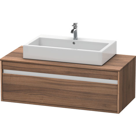 Duravit Ketho vanity unit wall hung 6696, 1 drawer, 1200mm, for 1 top basin in the middle