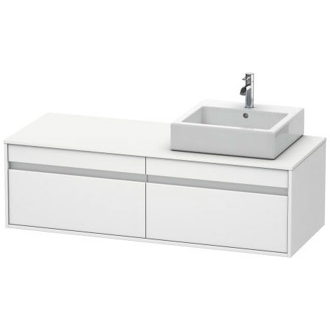 Duravit Ketho vanity unit wall hung 6697, 2 drawers, 1400mm, for 1 top basin, left