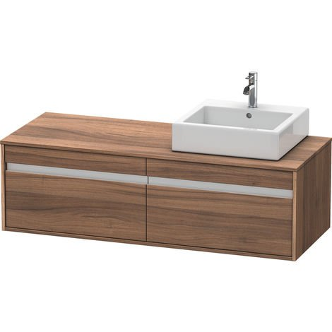Duravit Ketho vanity unit wall hung 6697, 2 drawers, 1400mm, for 1 top basin, right