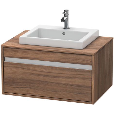 Duravit Ketho vanity unit wall hung 6794, 1 drawer, 800mm, for 1 built-in washbasin in the middle