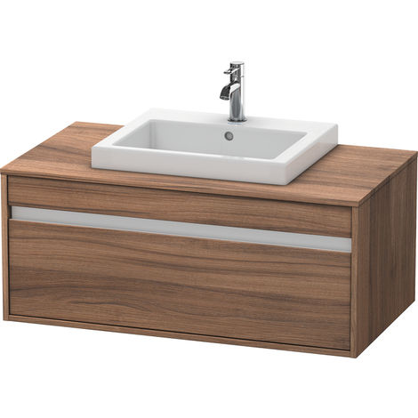 Duravit Ketho vanity unit wall hung 6795, 1 drawer, 1000mm, for 1 built-in washbasin in the middle