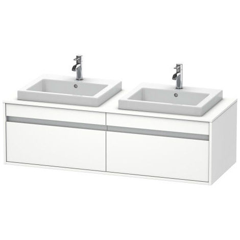 Duravit Ketho vanity unit wall hung 6797, 2 drawers, 1400mm, for 1 built-in washbasin, left