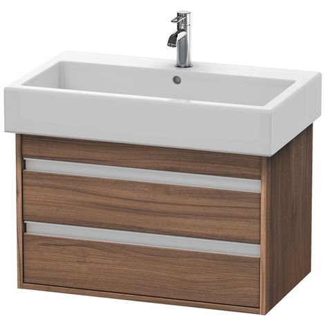 Duravit Ketho Vanity unit wall-mounted 6637, 2 drawers, 750mm, for Vero
