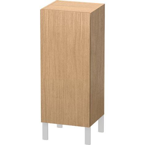 Duravit L-Cube armario de media altura individual 1 puerta, 2 baldas de cristal, con bisagras a la izquierda, altura mín. 600 mm - máx. 900 mm, anchura mín. 250 mm - máx. 500 mm, profundidad mín. 200 mm - máx. 363 mm, color: Decoración Roble Europeo - LC1