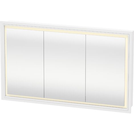 Duravit L-Cube mirror cabinet with LED lighting, width 1200mm (recessed wall mounting) - LC765300000