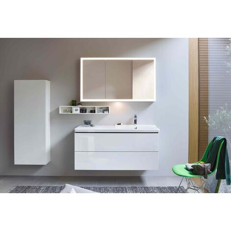 Duravit L-Cube mirror cabinet with LED lighting, width 1200mm (wall-mounted) - LC755300000