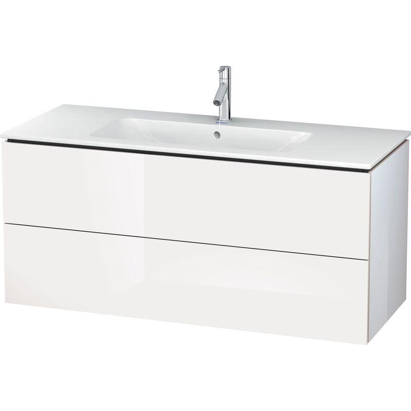 L-Cube Mueble de pared, 2 cajones, ancho: 1220mm, para mí de Starck 233612, color: Decoración blanca de alto brillo - LC624302222 - Duravit