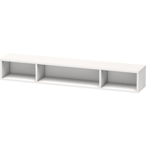 Duravit L-Cube shelving unit, width 800mm, depth 140mm, horizontal, 3 compartments