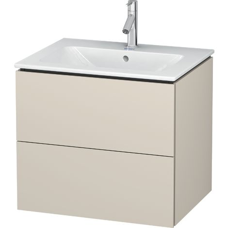 Duravit L-Cube Vanity unit wall-mounted, 2 drawers, width: 620mm, for Me by Starck 233663