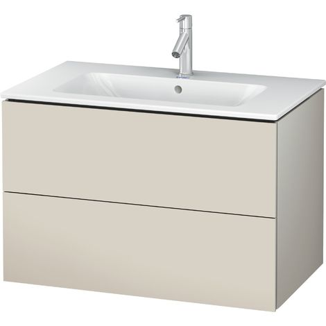 "Duravit L-Cube Vanity unit wall-mounted, width 820mm, depth 481, 2 drawers, suitable for ""Me by Starck"" Article 233683"
