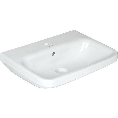 Duravit lavabo à encastrer DuraStyle 56cm Installation par le haut, avec trop-plein, avec table de robinetterie, 1 trou de robinetterie, Coloris: Blanc - 0374560000