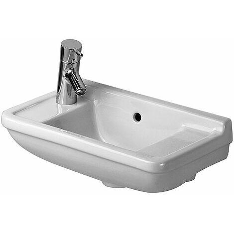 Duravit lave-mains Starck 3 50cm, trou pour robinet pré-percé à gauche et à droite, Coloris: Blanc avec Wondergliss - 07515000001