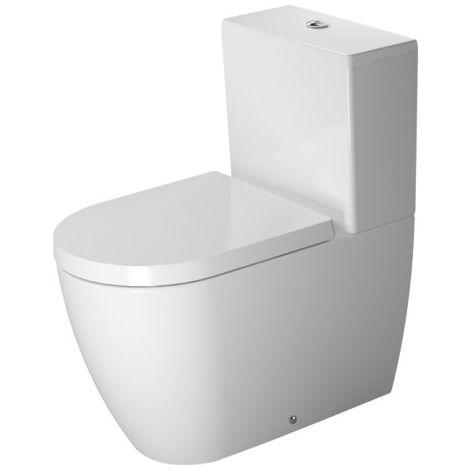 Duravit ME by Starck combinación de WC independiente, lavable, con fijación incluida, para cisterna de superficie, 4,5 l, 370 x 650 mm, color: Blanco con Wondergliss - 21700900001