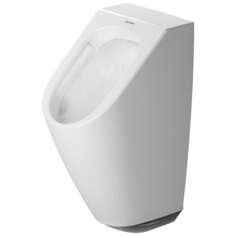Duravit ME by Starck Urinal Duravit Rimless, con mosca, urinario electrónico para conexión a batería con unidad de control, color: Blanco con Wondergliss - 28093100071