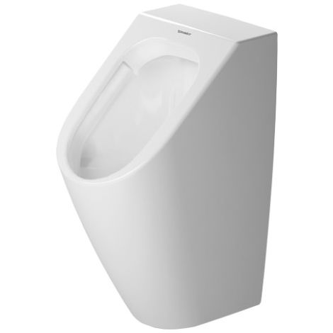 Duravit ME by Starck Urinal Duravit Rimless, sin mosca, urinario electrónico para conexión a batería con control,, color: Blanco con Wondergliss - 28093100001