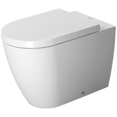 Duravit ME by Starck WC independiente, espalda a la pared, lavavajillas, fijación incluida, 4,5 l, 370 x 600 mm, color: Color interior blanco, color exterior blanco seda mate, con WonderGliss - 21690926001