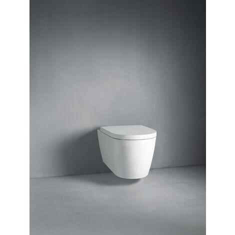 Duravit ME by Starck WC indipendente, da parete, lavastoviglie, fissaggio incluso, 4,5 l, 370 x 600 mm, colorazione: Colore interno bianco, colore esterno bianco seta opaca, con HygieneGlaze - 2169099000